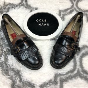 Cole Haan Black Monk Strap Loafers 10 D